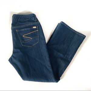 Seven7 Luxe Jeans Size 14 Thalia Dark Wide Leg